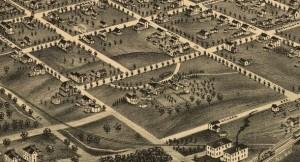Bird's Eye View of Greensboro 1891 - Blandwood